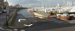 Cale de mise à l'eau port de Piriac